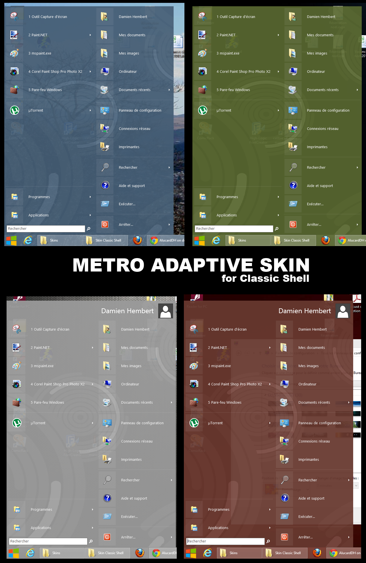 Metro Adaptive Skin for Classic Shell by AlucardDH