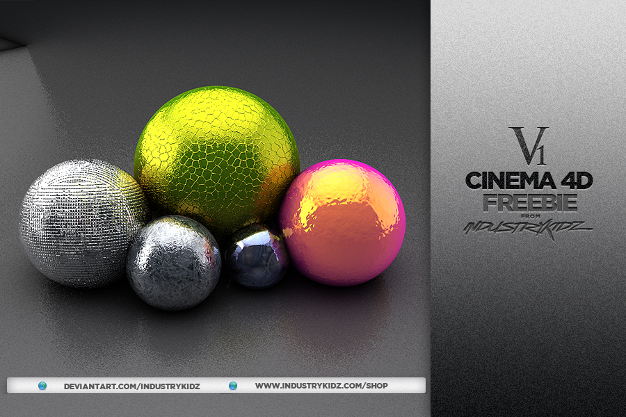 Free Cinema 4D Material Pack by Industrykidz on DeviantArt