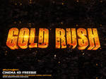 GOLD RUSH SHOW TITLES CINEMA 4D