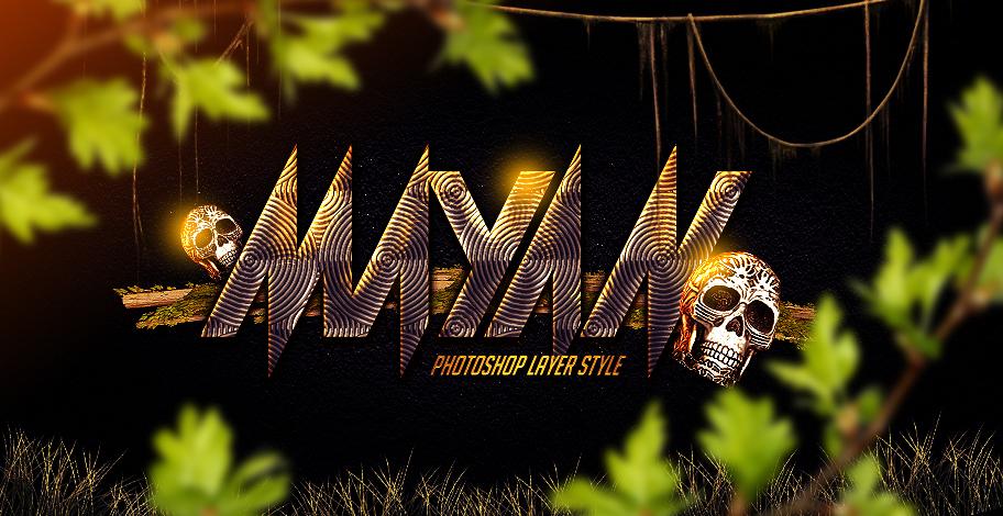 Mayan Photoshop Layer Style by Industrykidz