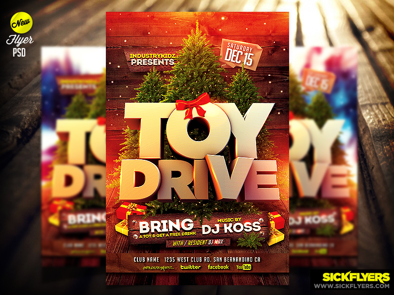 Toy Drive Flyer Template : Toy drive flyer template psd by industrykidz on deviantart