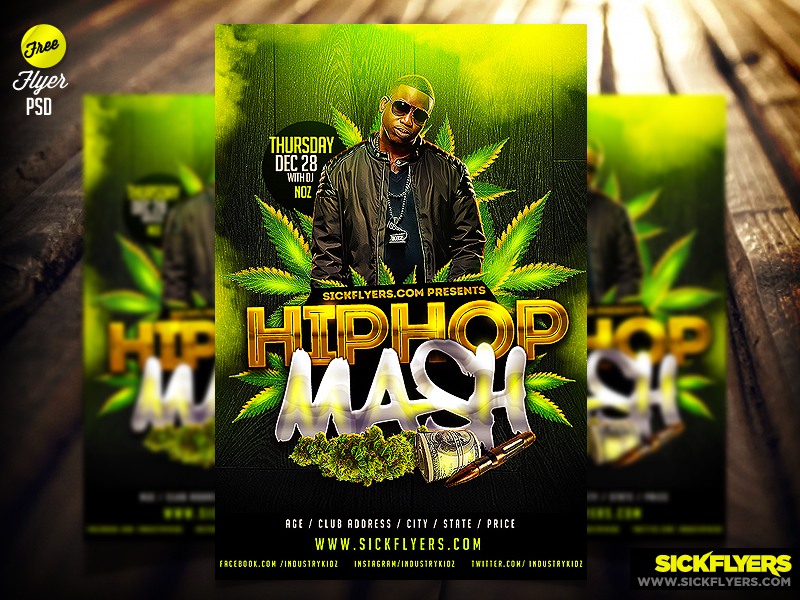 Free Flyer Psd Mixtape Cover Flyer Template By Industrykidz On
