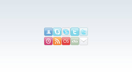 Sleek Social Icons by applesactually