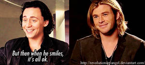 When Chris smiles... by RevolutionaryAngel