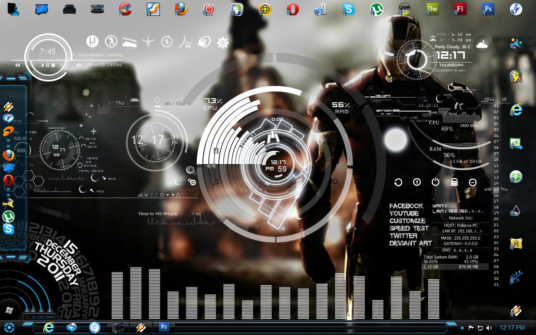 Google chrome theme iron man - Iron Man Desk By Avinashvr06