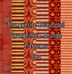 Marguerite Beausoleil RedOrangeGrunge by MargueriteBeausoleil