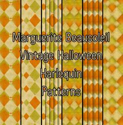 Marguerite Beausoleil Vintage Halloween Harlequin by MargueriteBeausoleil