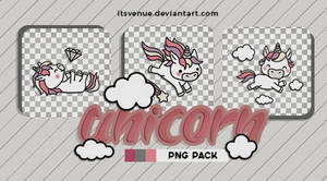 01 | Unicorn Stickers //.png pack