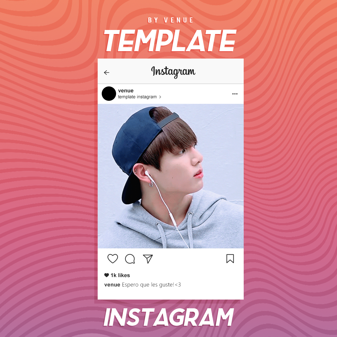 Instagram Template [.psd] by itsvenue