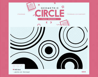 .geometric circle / brushes #4 by itsvenue