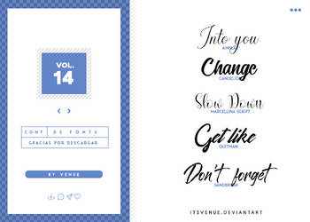 fonts pack [vol. 14] by itsvenue