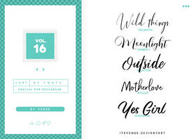 fonts pack [vol. 16] by itsvenue