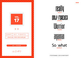 fonts pack [vol. 17] by itsvenue