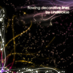 flowing decorative brushes