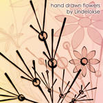 hand-drawn flowers brushes