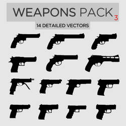Weapons Pack #3 Pistols