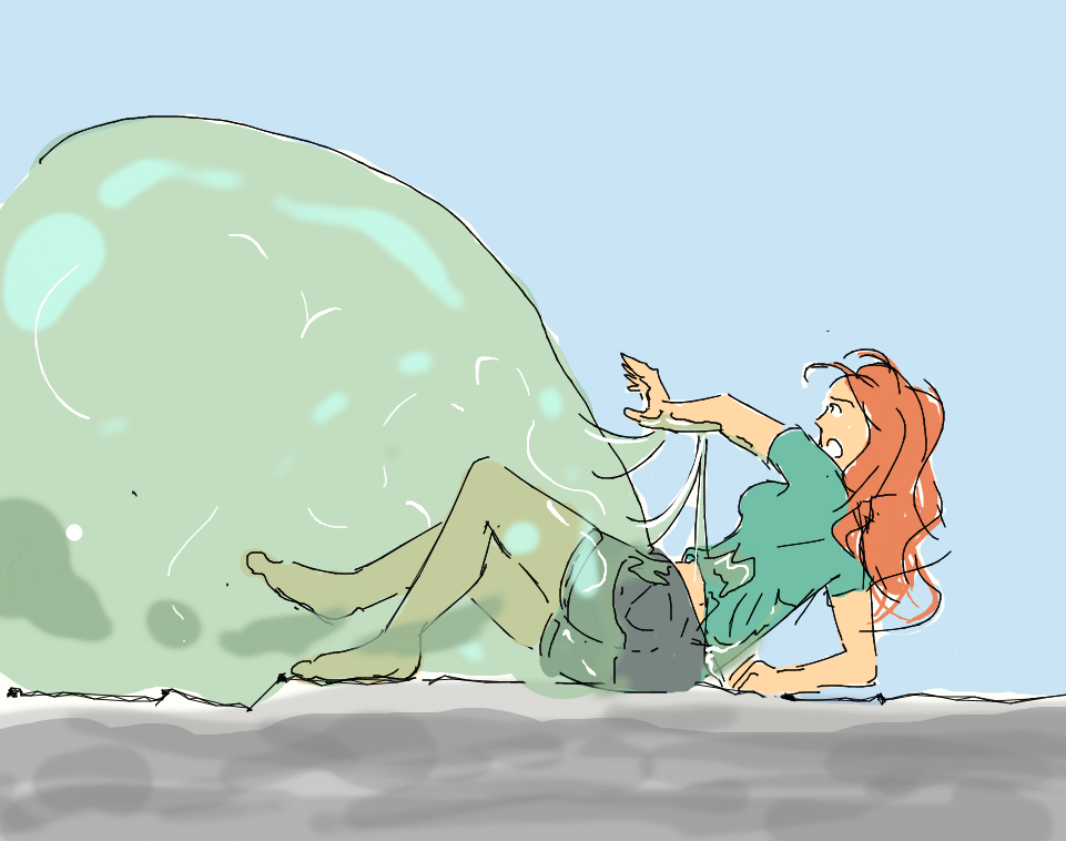 Girl Attacked By Slime by Silkyfriction on DeviantArt
