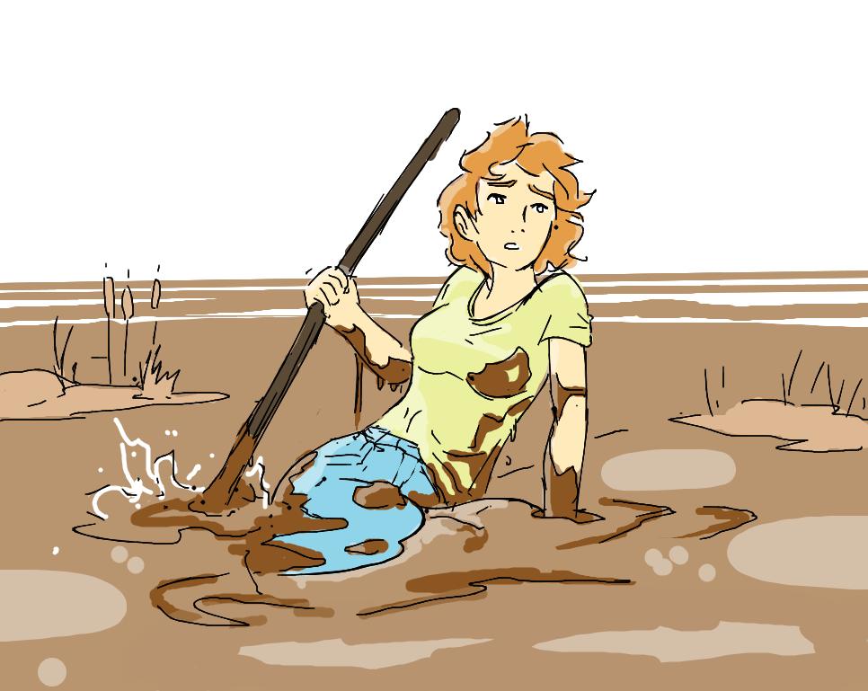 girl in gluey mud  Quicksand Fans