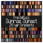 Sunrise Sunset ugr Gradients set