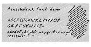 Penciledinh font demo