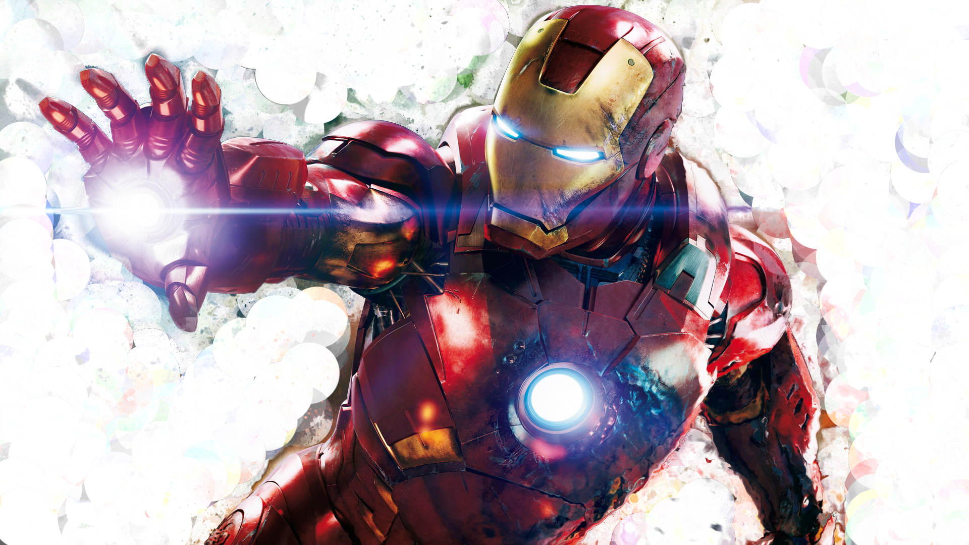 Expressionist Iron Man Design Wallpaper by Axiom Apps on
