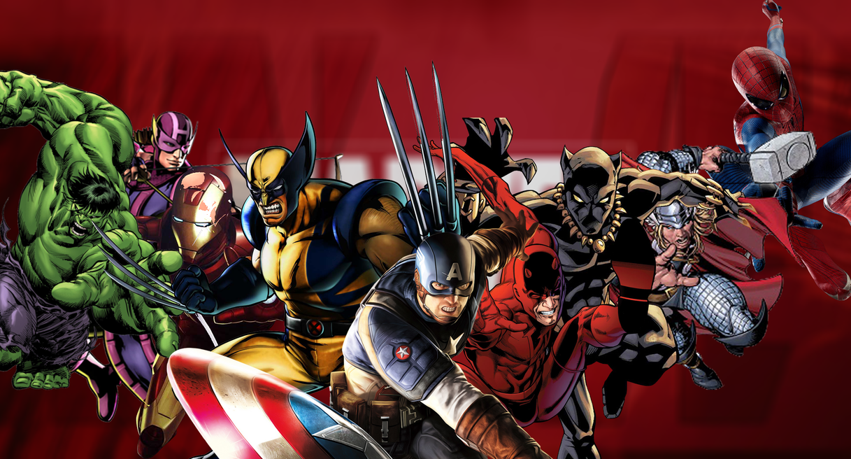 marvel characters wallpaper  Marvel Characters Wallpaper Design by Axiom-Apps on DeviantArt