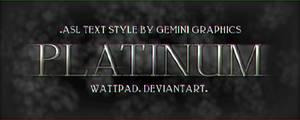 Platinum  (.Asl Text Style)
