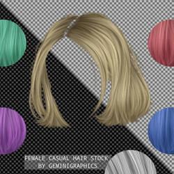 Female Casual Hair Stock