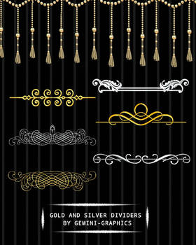 Gold And Silver Dividers