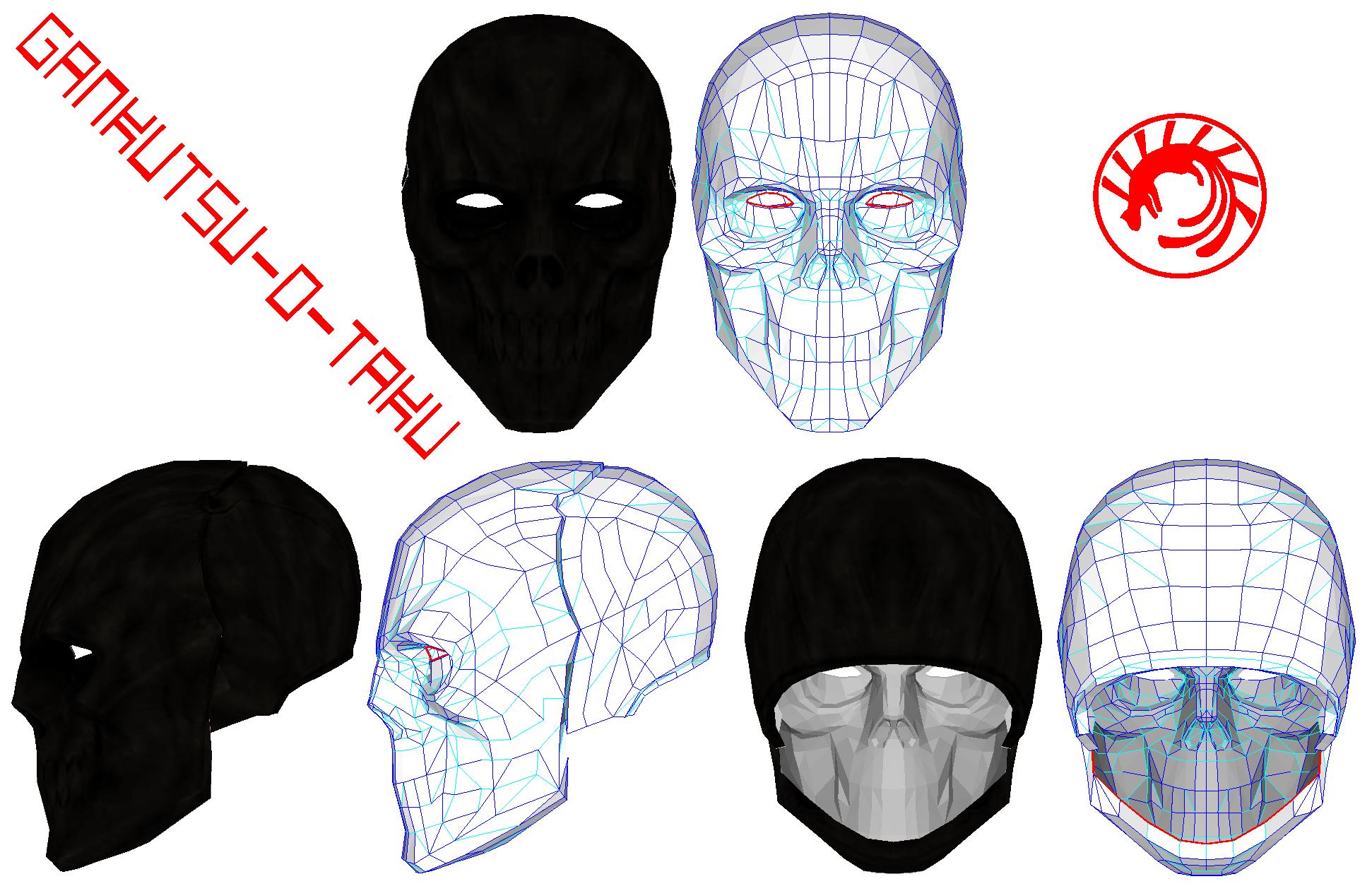 Group of Blackmask Pepakura By Gankutsu