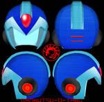 Rockman(Mega Man) Helmet Pepakura
