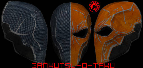 Deathstroke Mask Pepakura UPDATED by GANKUTSU-O-TAKU
