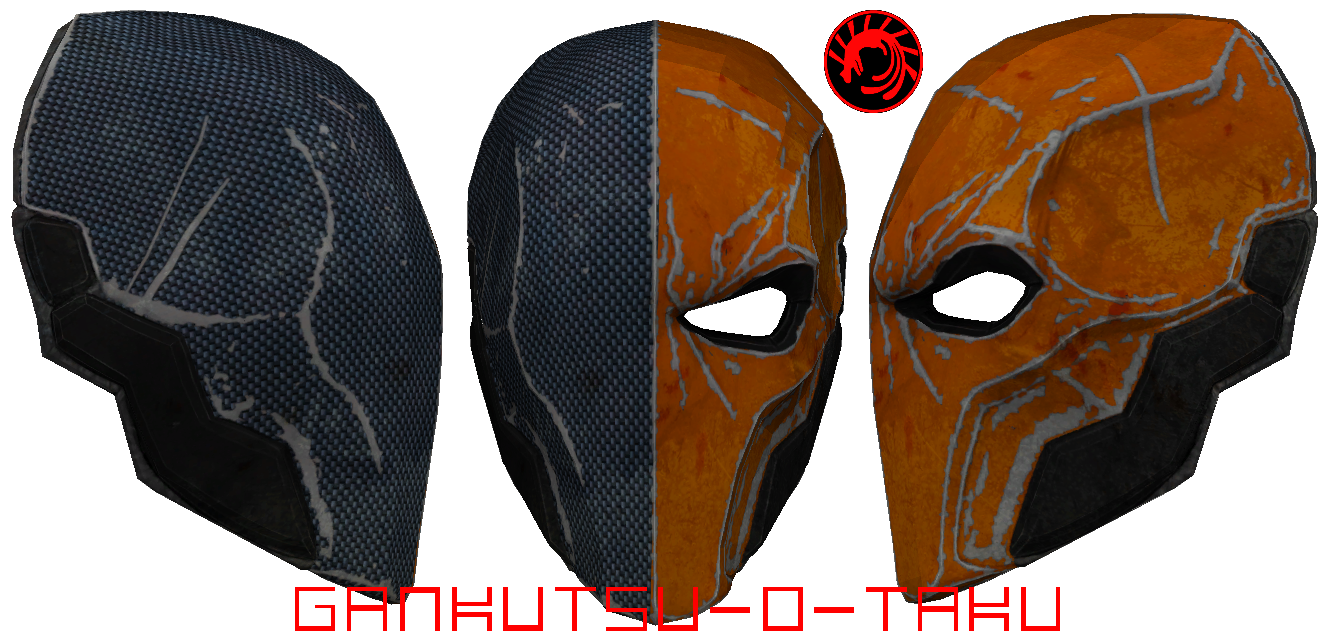 Deathstroke mask pepakura updated by gankutsu o taku on for Deathstroke armor template