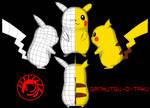 Pikachu IRL Pepakura