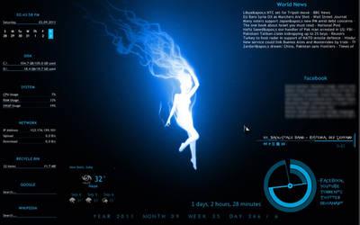 the blue desktop