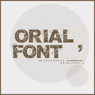 Orial_Font
