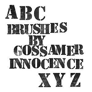 Stenciled Letters Brushes by GossamerInnocence