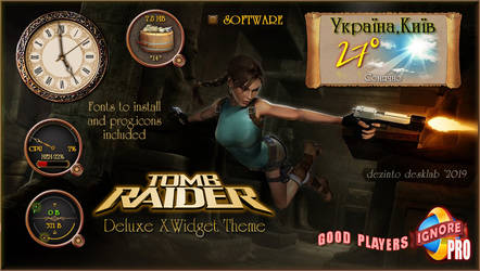 Tomb Raider XWidget Theme by dezinto