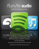 Flurry Icons for Audio by HeskinRadiophonic