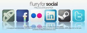Flurry Icons for Social Media