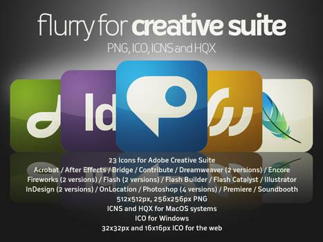 Flurry Icons for Adobe CS