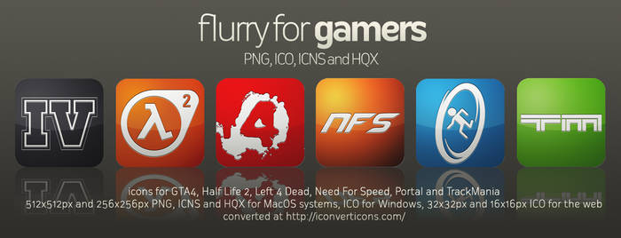 Flurry Icons for Gamers