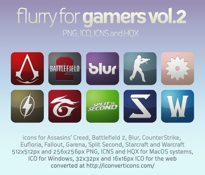 Flurry Icons for Gamers vol.2 by HeskinRadiophonic