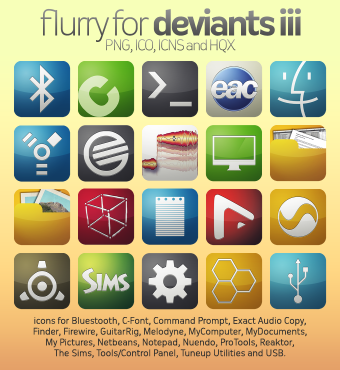 Flurry Icons for Deviants III by HeskinRadiophonic