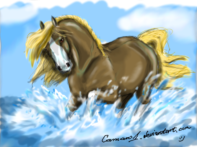 Horse - DAmuro quick drawing by camaro1