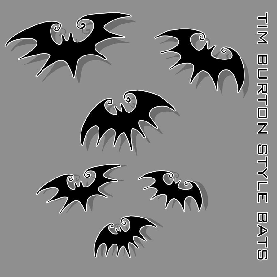 Tim Burton Style Vector Bats by liquid-venom on DeviantArt