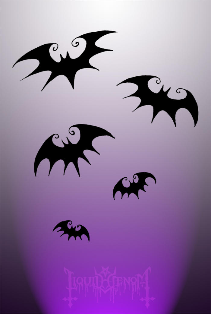 Tim Burton Style Bats by liquid-venom