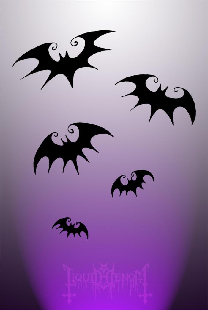 Tim Burton Style Bats by liquid-venom