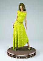 turntable long  dress