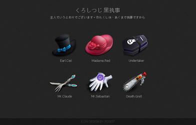 Kuroshitsuji Theme Icons by poseit